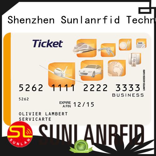 Sunlanrfid icode train smart card production for shopping Center