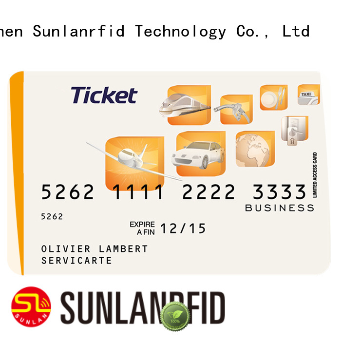 Sunlanrfid ultralight railway smart card production for time and attendance