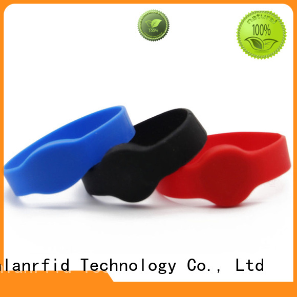 Sunlanrfid mifare wristband rfid production for time and attendance
