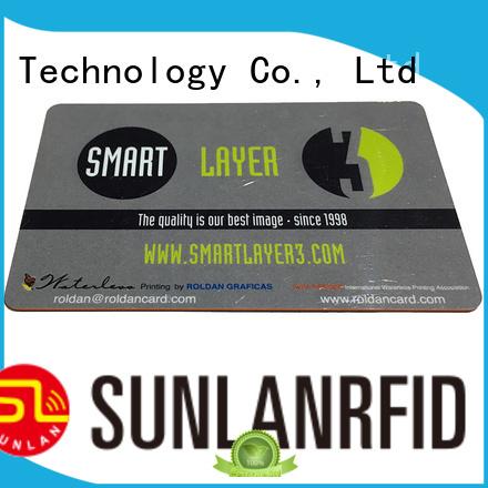 Sunlanrfid quality magnetic card manufacturer for transportation