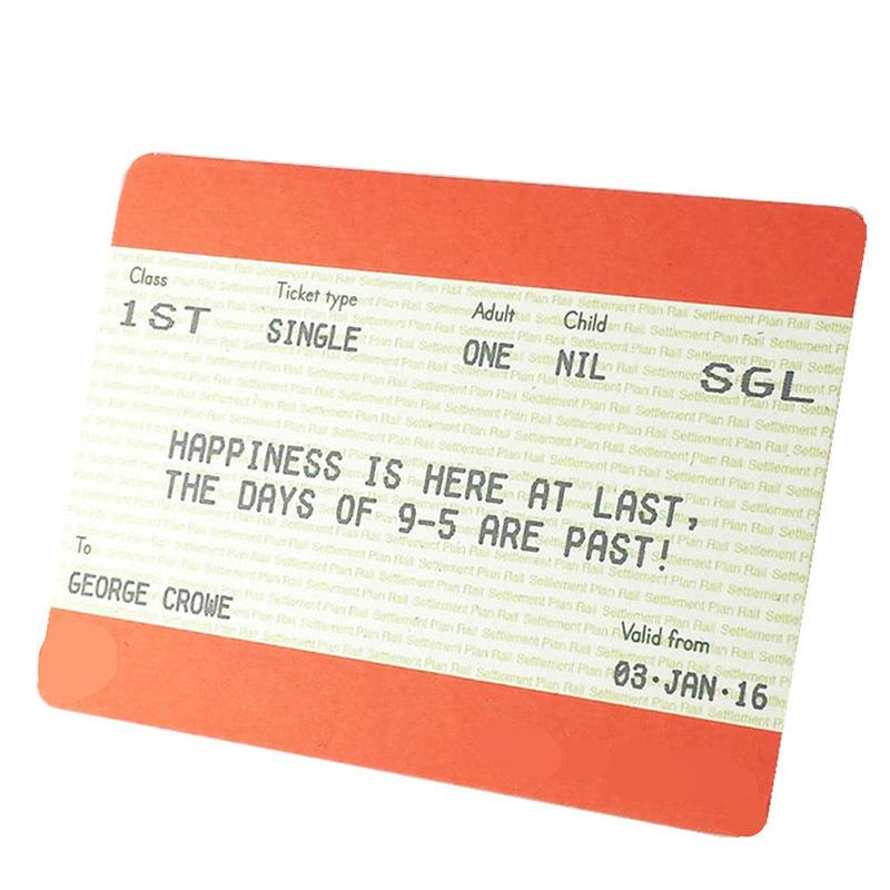 PVC or PET Ultra Thin Ticket Card with MIFARE Ultralight Nano