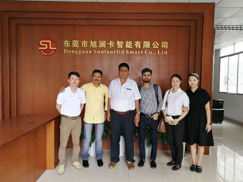 India customer visiting our factory