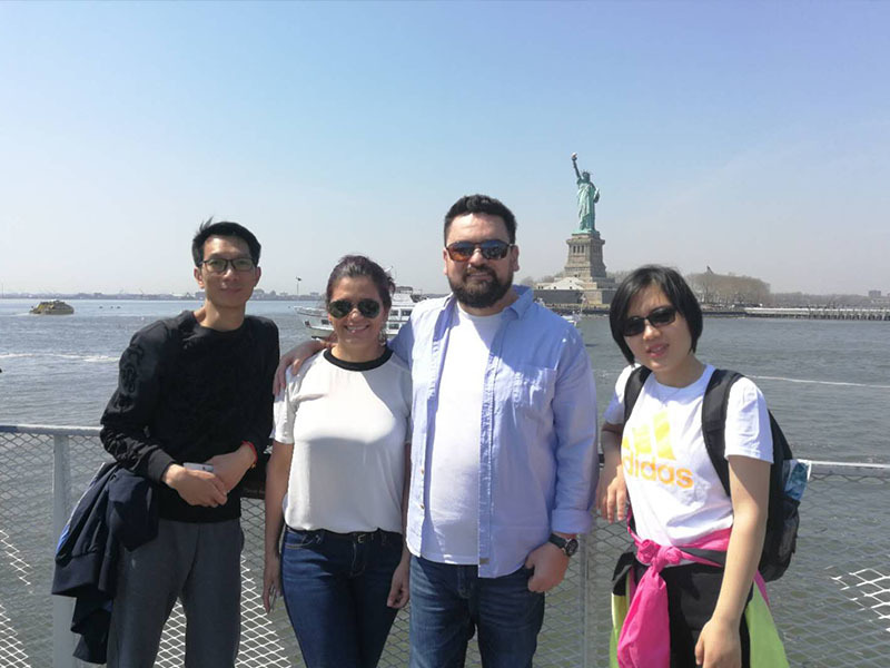 With American Customer in NY