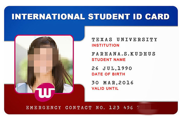 Student ID Card with ICODE SLI Chip-6