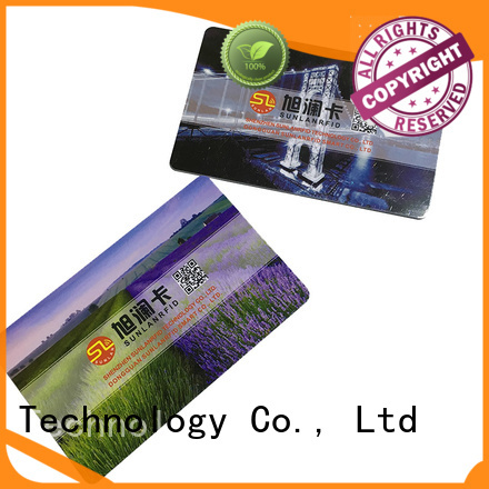 Sunlanrfid printied prox card manufacturer for time and attendance