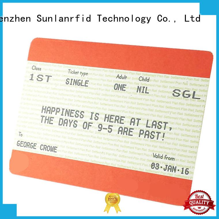 Sunlanrfid chip train smart card supplier for transportation
