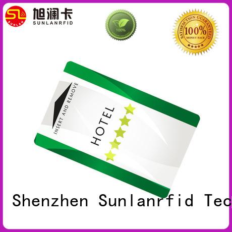 Sunlanrfid online hotel door card series for opening door