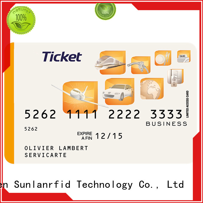 Sunlanrfid durable bus smart card series for parking