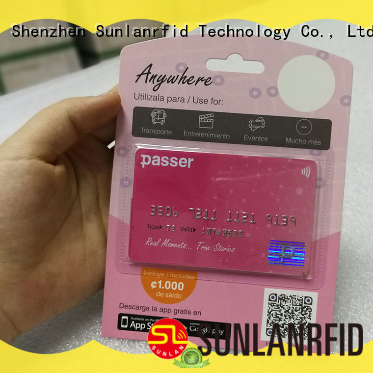 Sunlanrfid mifare transport card wholesale for daily life