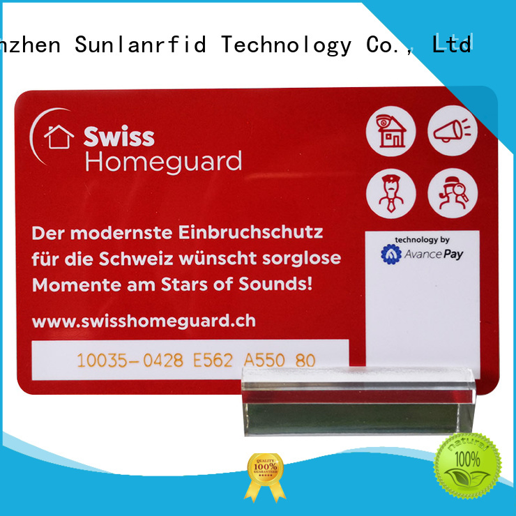 Sunlanrfid prepaid card manufacturer for shopping Center