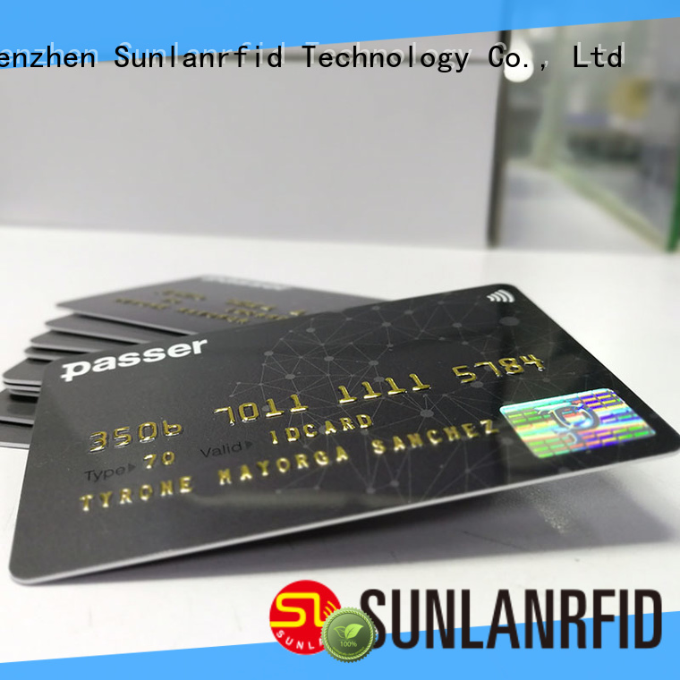 Sunlanrfid ultralight metro card wholesale for shopping center