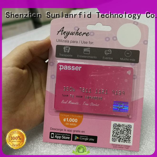 Sunlanrfid quality bus card supplier for shopping center