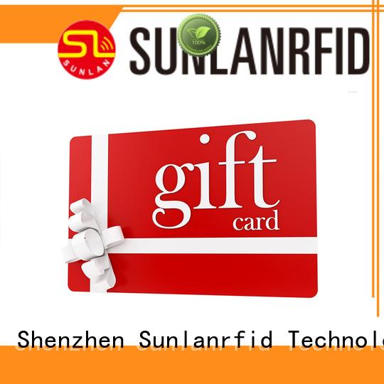 Sunlanrfid pvc rewards cards series for transportation