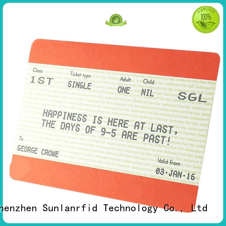 ultra ticket train smart card pet Sunlanrfid