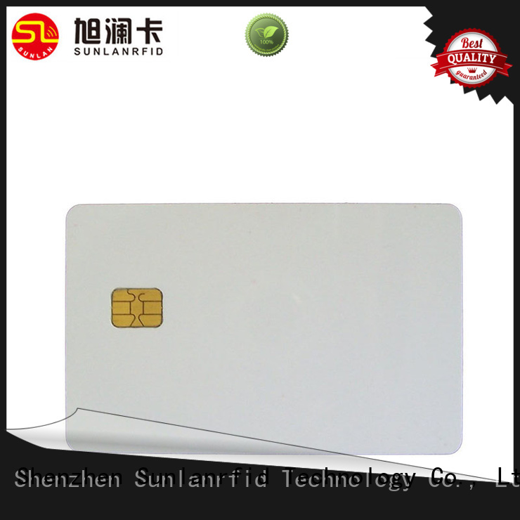 Sunlanrfid sle contact chip card manufacturer for access control