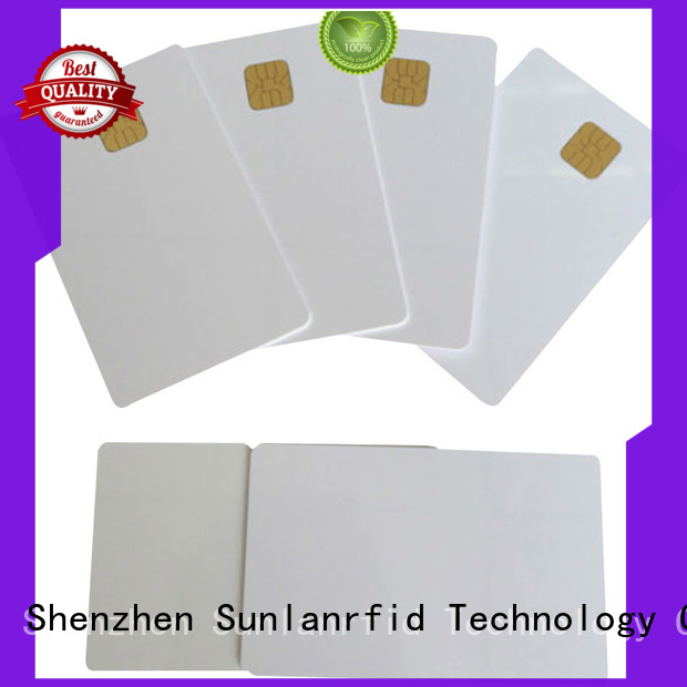 Sunlanrfid chip contact card wholesale for daily life