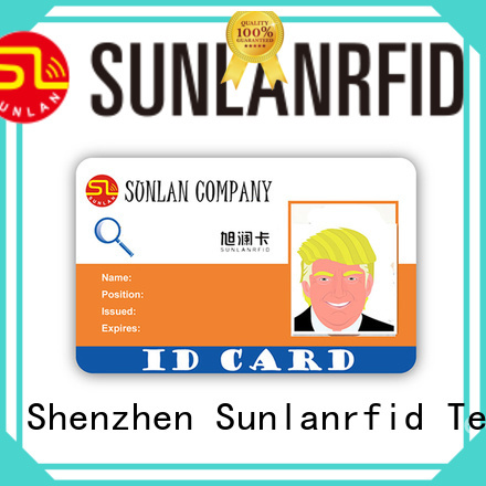 Sunlanrfid durable id card format production for parking