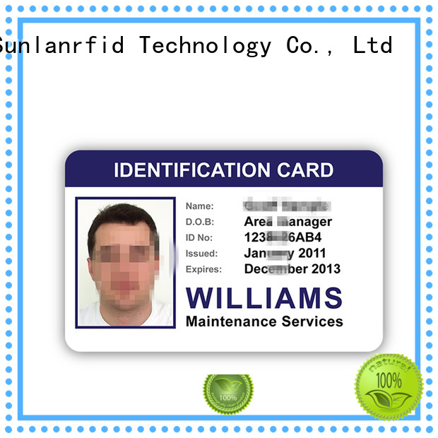 Sunlanrfid online movie id cards supplier for time and attendance