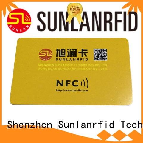 Sunlanrfid card nfc smart card production for time and attendance