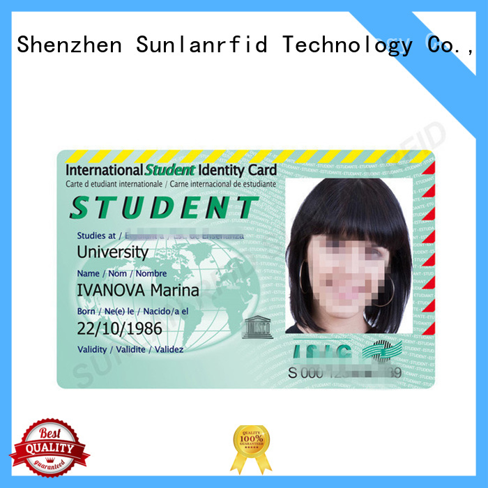 Sunlanrfid chip id card template wholesale for transportation