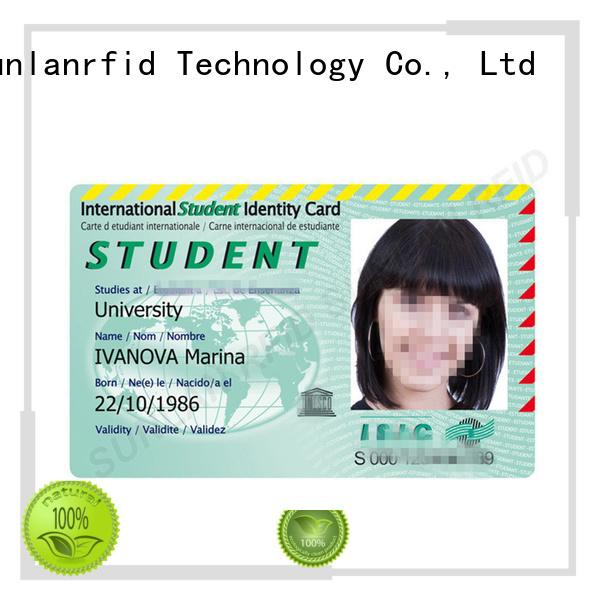 school id card design icode factory Sunlanrfid
