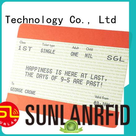 Sunlanrfid icode ticket smart card series for transportation