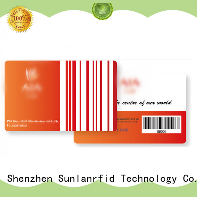Sunlanrfid vip best loyalty cards series for time and attendance