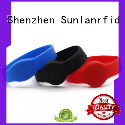 Sunlanrfid classic wristband rfid production for time and attendance