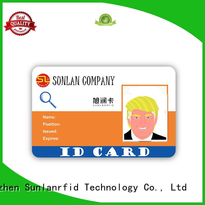 Sunlanrfid mifare school id card supplier for transportation