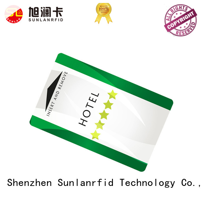 Sunlanrfid online hotel key card manufacturer for opening door