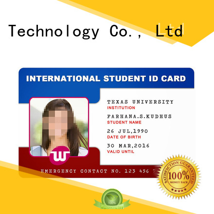 Sunlanrfid student id card template wholesale for access control