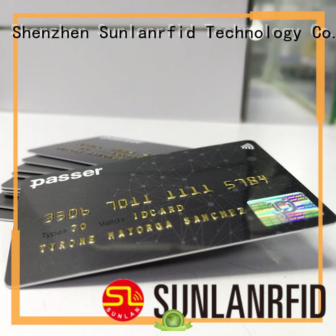 Sunlanrfid quality bus card card for subway