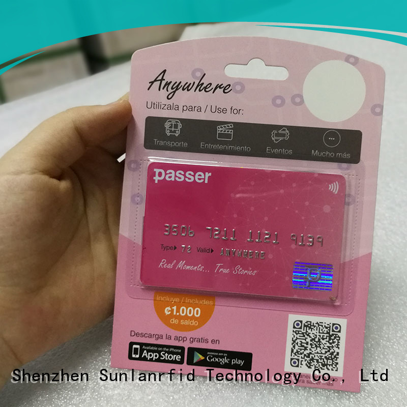 Sunlanrfid hot sale mysubwaycard login card for daily life