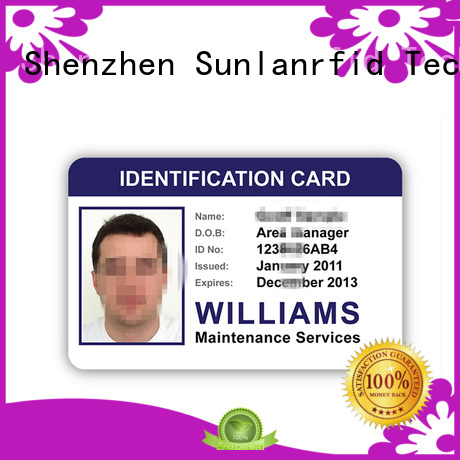 Sunlanrfid ntag215 student id card production for parking