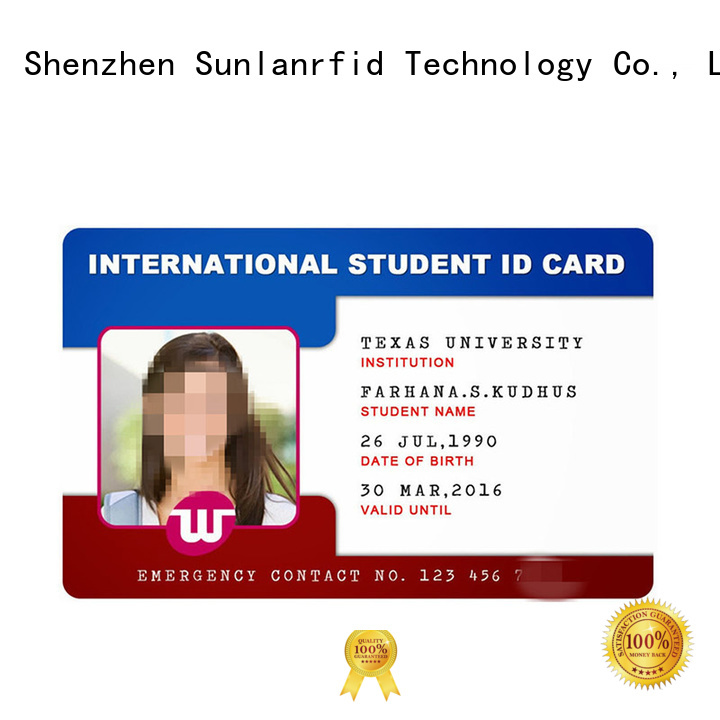 durable student id card id series for transportation