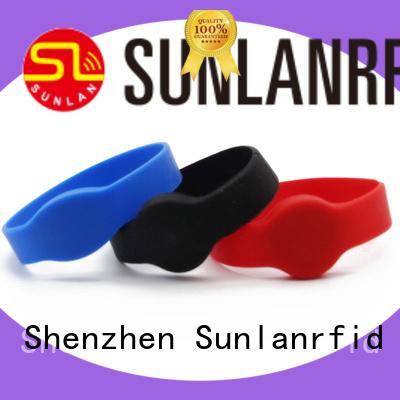 Sunlanrfid Custom nfc wristband manufacturer for shopping center