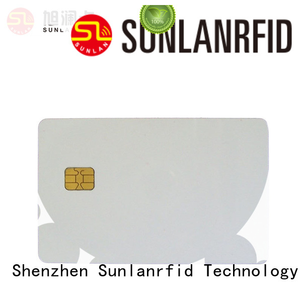 Sunlanrfid contact mifare card supplier for time and attendance