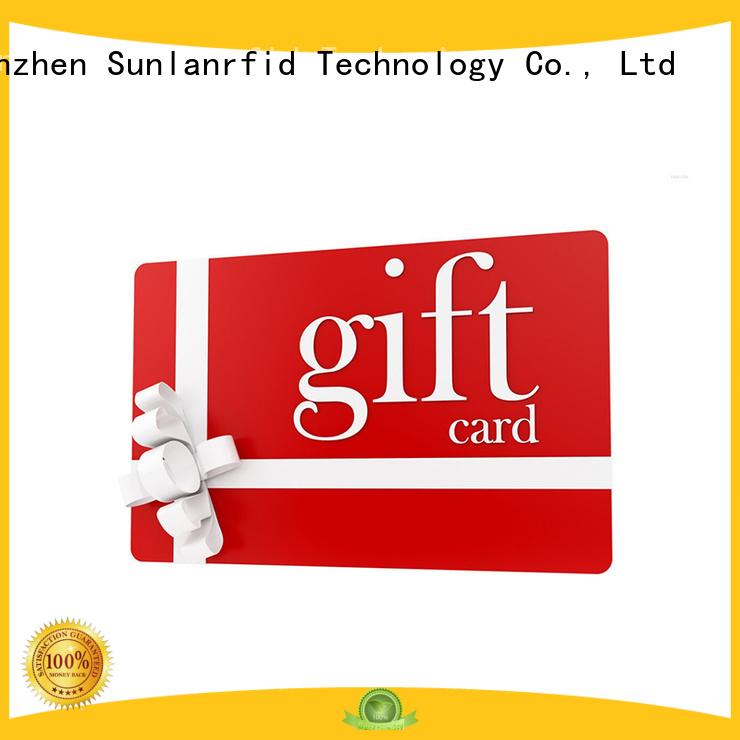 Sunlanrfid vip shopping membership card for business for parking