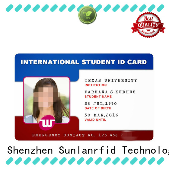 Sunlanrfid card id card format production for access control