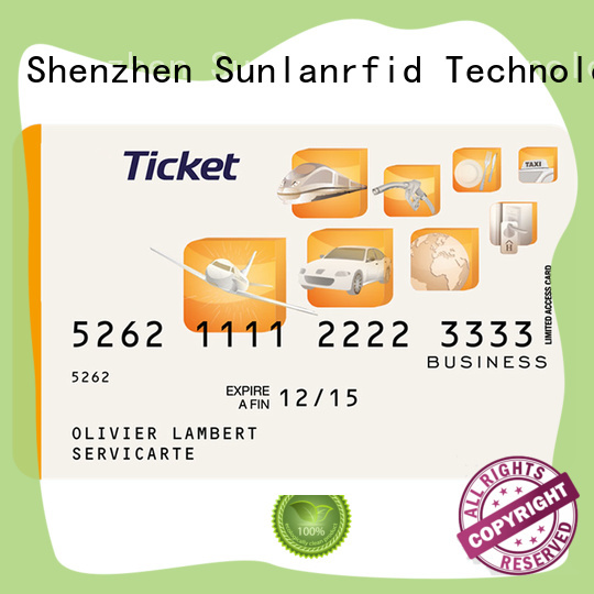 Sunlanrfid durable metro smart card series for shopping Center