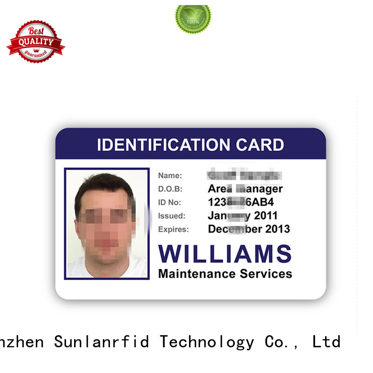 Sunlanrfid ntag213 free id card template series for transportation