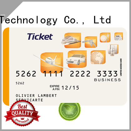 Sunlanrfid thin smartcard tickets manufacturer for time and attendance