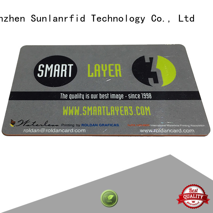 Sunlanrfid quality contactless ic card supplier for transportation