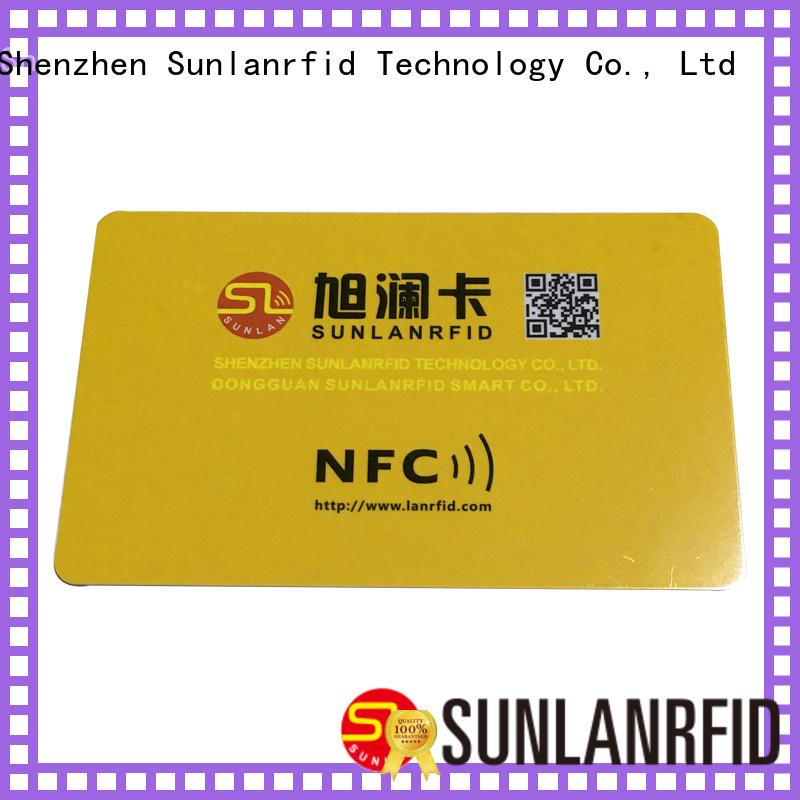 Sunlanrfid Brand smart smart card nfc card supplier
