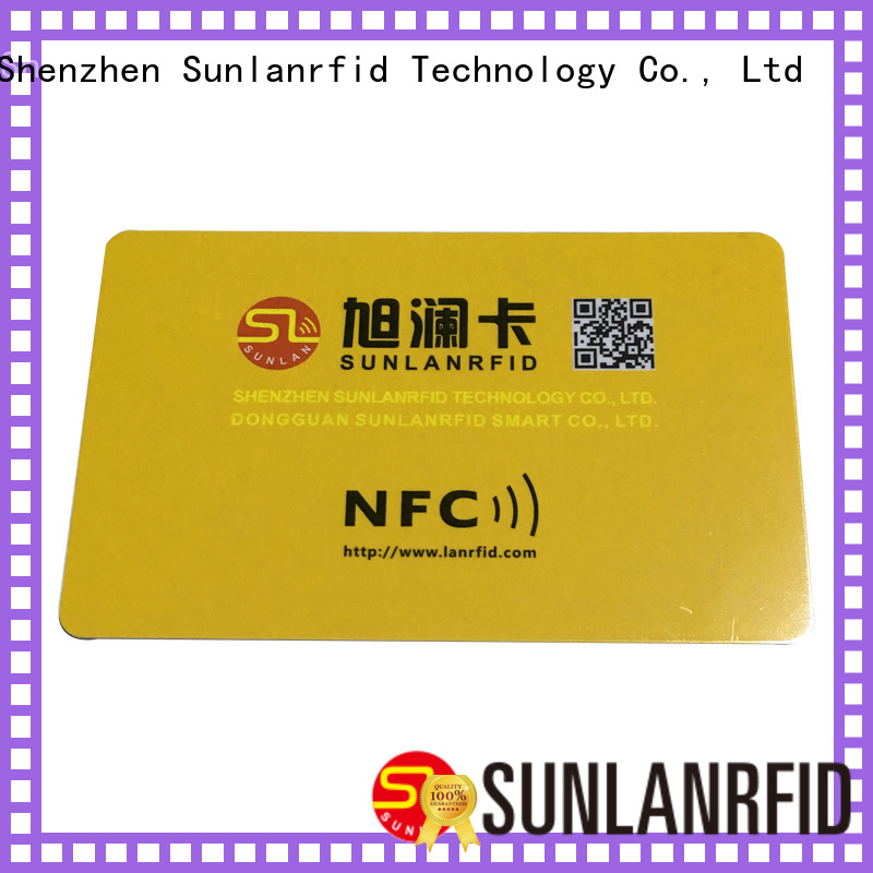 Sunlanrfid Brand smart smart card nfc card supplier
