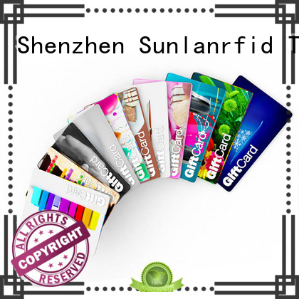 Sunlanrfid ultralight loyalty card system gift shop