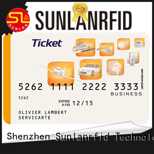 Sunlanrfid railway smart card wholesale for parking