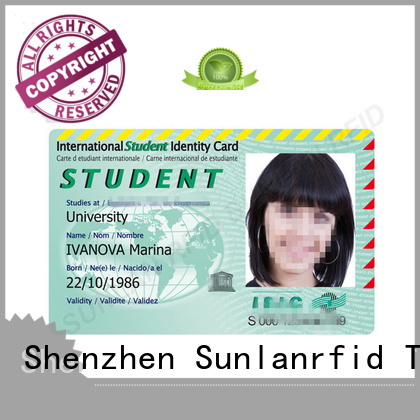 Sunlanrfid ntag213 id card template manufacturer for access control