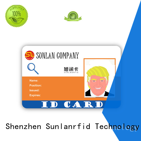 Sunlanrfid card new student id wholesale for shopping Center