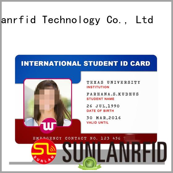 Sunlanrfid Brand icode student chip rfid student id card card